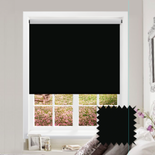 Black Roller Blind - Bahamas Pitch Black